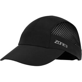 Zone3 Lightweight Mesh Running Baseball Cap, black/reflective silver